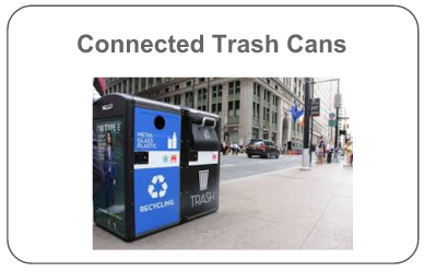 Connected Trash Cans